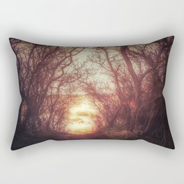 Ancient tree tunnel into the sea Rectangular Pillow