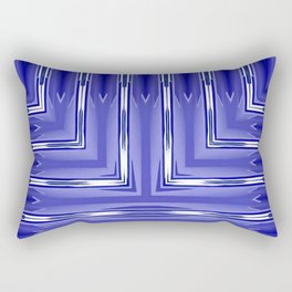 Art Deco Royal Blue Spear Pattern Rectangular Pillow