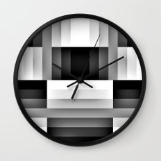 Black and WHite Gradient abstract Wall Clock