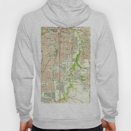 Vintage Map of Fort Worth Texas (1955) Hoody