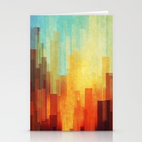 paint Stationery Cards featuring Urban sunset by SensualPatterns