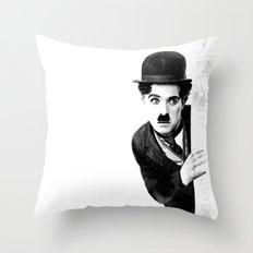 MR CHAPLIN Throw Pillow