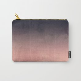Modern abstract dark navy blue peach watercolor ombre gradient Carry-All Pouch