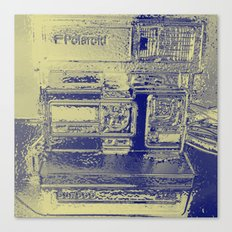 Chrome Polaroid  Canvas Print