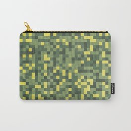 Digital Fractal Camouflage Retro Grunge Pattern Carry-All Pouch