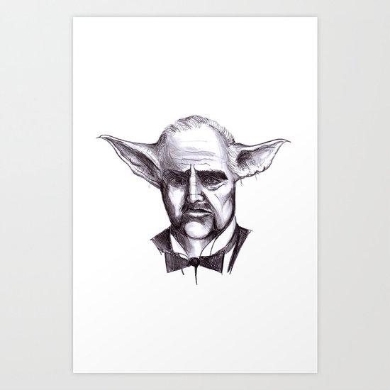 Yodafather Art Print