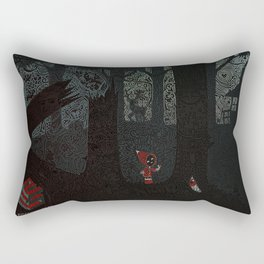 no-empty-spaces Red Riding Hood negative wolf Rectangular Pillow