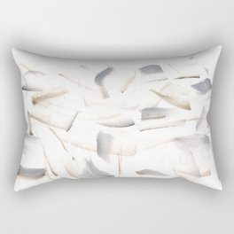 180630 Grey Brown Black Neutral Abstract Watercolour 7   Watercolor Brush Strokes Rectangular Pillow