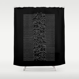 Joy Division Unknown Pleasures Shower Curtain