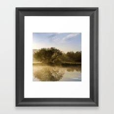 Sunrise Fog Framed Art Print