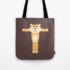 Letter T // Animal Alphabet // Tiger Tote Bag