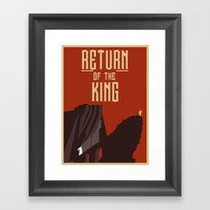 Return Of the King Framed Art Print