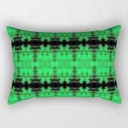 Green Black Diamond Gothic Pattern Rectangular Pillow