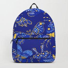Butterfly Pattern Blue Backpack
