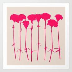 carnations 2 Art Print