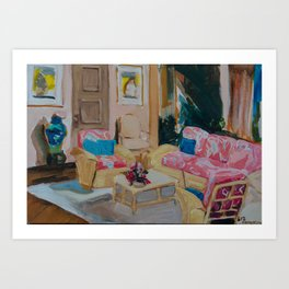 Golden Girls living room Kunstdrucke