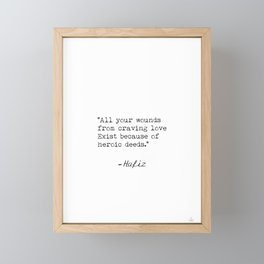 Hafiz quote 7 Framed Mini Art Print