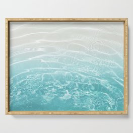 Soft Blue Gray Ocean Dream #1 #water #decor #art #society6 Serving Tray