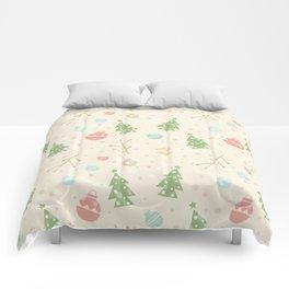 Simple christmas vector pattern Comforters