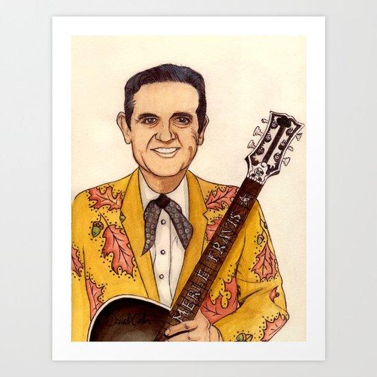 Merle Travis II Art Print