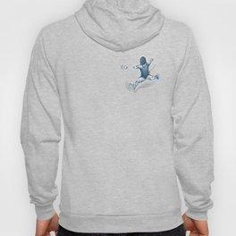 Fencer. Print for t-shirt. Vector engraving illustration. Hoody