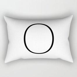 Letter O Typewriting Rectangular Pillow