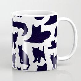 Grumpy Cats - Dark Navy Palette Coffee Mug