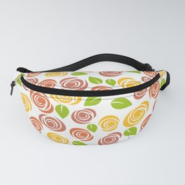 Pretty Orange, Yellow and Green Floral Pattern Fanny Pack