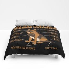 German Shepherd Anatomy Comforters