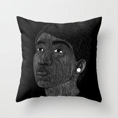 Aretha Franklin Throw Pillow