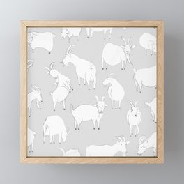 Charity fundraiser - Grey Goats Framed Mini Art Print