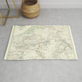 Vintage Map - Spruner-Menke Handatlas (1880) - 32 Middle Lorraine Rug