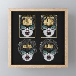 BLIND RUNNER Framed Mini Art Print