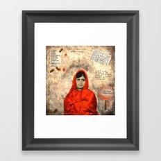 MALALA MUST DIE Framed Art Print
