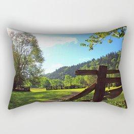 Sandy River Delta Park - Spring Rectangular Pillow