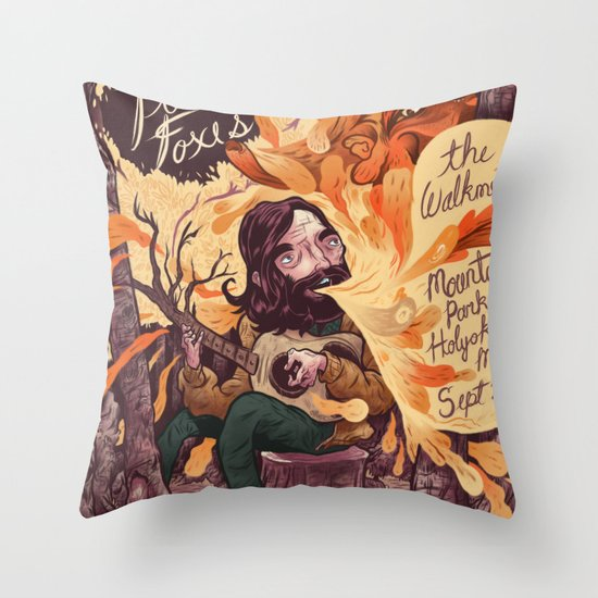 Fleet Foxes Poster Throw Pillow