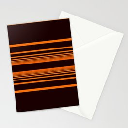 Orange horizontal lines. Stationery Cards