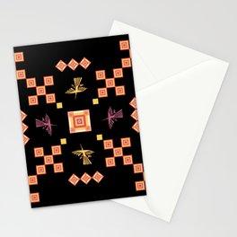 Peru: Nazca Lines (Condor) - Geometric Design (Square) Stationery Cards