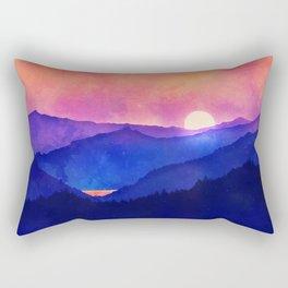 Cobalt Mountains Rectangular Pillow