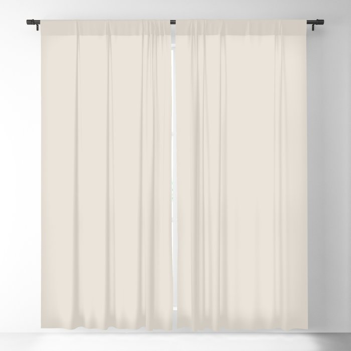 Sherwin Williams Trending Colors of 2019 Porcelain (Off White / Cream / Ivory) SW 0053 Solid Color Blackout Curtain