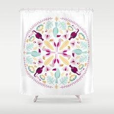 Rainforest mandala Shower Curtain