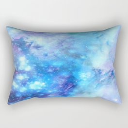 Dreamlike Blue Interstellar Dust Rectangular Pillow