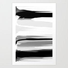 Soft Determination Black & White Art Print