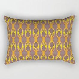Retro-Delight - Double Drops - Golden Plum Rectangular Pillow