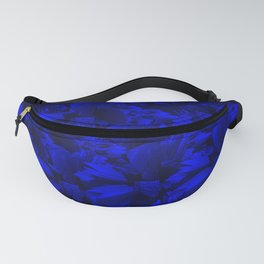 A202 Rich Blue and Black Abstract Design Fanny Pack