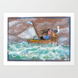 Tea time at Sea Art Print