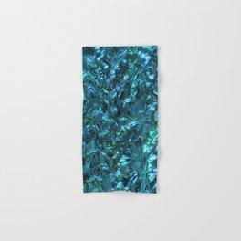 Abalone Shell | Paua Shell | Cyan Blue Tint Hand & Bath Towel