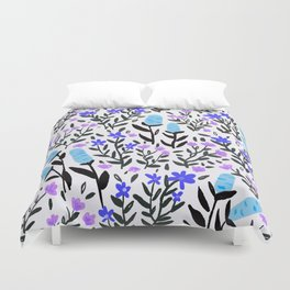 wild flowers hand draw floral pattern Duvet Cover