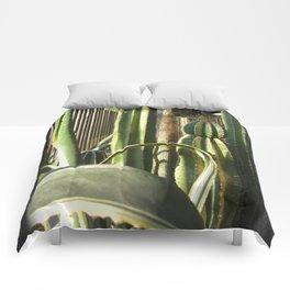 Cactus Garden Blank P4F0 Comforters