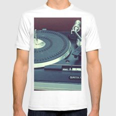 spin Mens Fitted Tee MEDIUM White